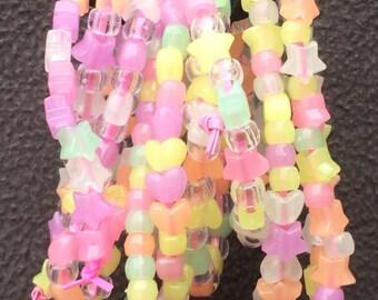 Neon Glow In Dark Kandi EDC EDM Bracelet Singles