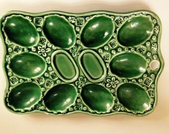 Green Deviled Egg Plate