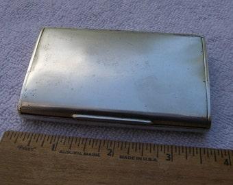 Heavy Vintage AUSTRIAN 900 Silver CIGARETTE CASE-Plain But Elegant