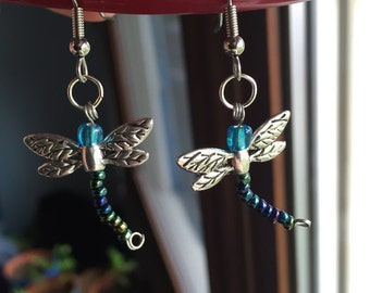 Hypoallergenic Dragonfly Earrings - Surgical Stainless Steel