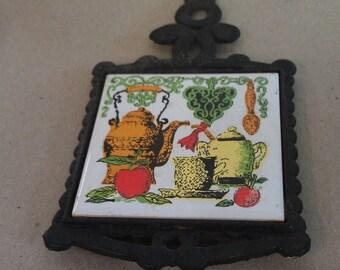 Shun Long Ceramic Kitchen Tile in Iron Hanger