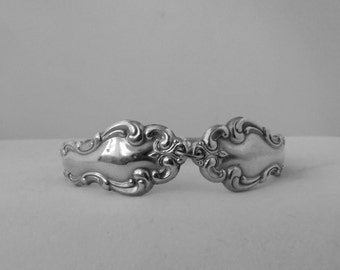 Medium Spoon Bracelet 1971 Beethovan Vintage Bracelet Antique Bracelet Ornate Spoon Handles---200