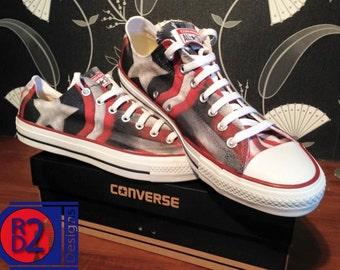 American hero custom converse low top shoes