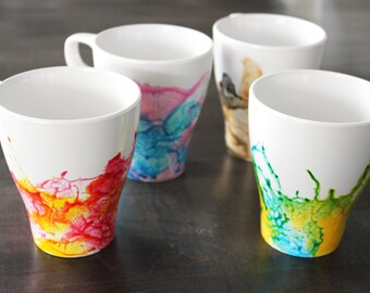DIY Watercolour Mug Kit - set of 4