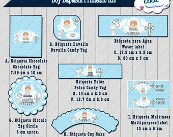 Boy Baptism Printable, Boy Baptism Kit