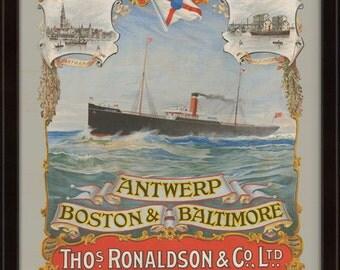 Boston Puratin Line Steamship Company 1896