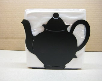 Metal Teapot Napkin Holder Letter Holder