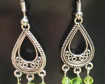 Green bead dangling