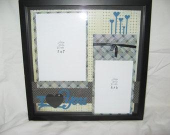 I love you pre-made scrapbook layout