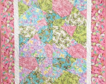 Girl's Pink Butterfly Quilt No 7