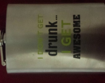 Funny 4oz flask