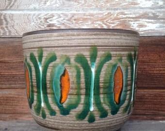 Vintage B.P.F. Heffen Belgium Ceramic Planter Pot