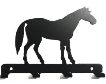Standing Horse Silhouette Key Hook Rack - metal wall art