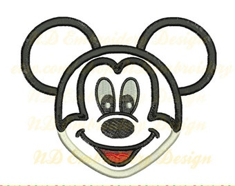 Mickey mouse face applique design, Machine Embroidery,  ms-072