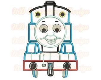 Thomas Train Face Machine Applique Embroidery Design, Tank Engine,  vl-009