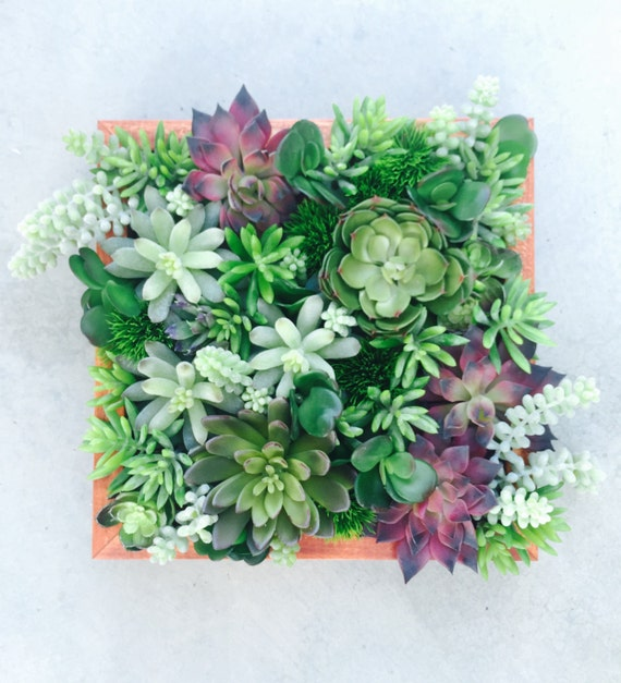 Faux Centerpiece Succulent Centerpiece By Thewoodandthistle