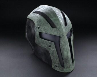 ColdBloodArt #8 Airsoft Paintball Mask - Darkwood