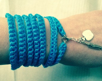 crochet bracelets with pendants