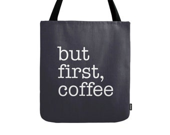 But first coffee tote bag But first coffee bag typography tote bag But first coffee canvas tote bag good vibes bridesmaid gift for her