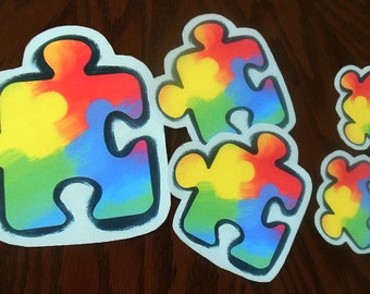 Autism Awareness Sticker 3 Sizes