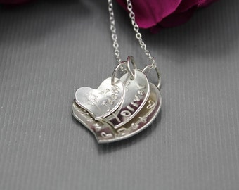 Sterling Silver Triple Personalised Necklace
