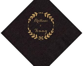 Monogram Personalized Wedding Napkins
