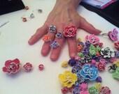Cutest Polymer Flower Rings Ever!
