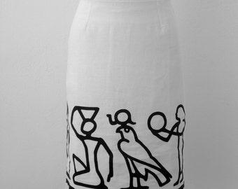 Egyptian linen skirt