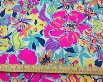 Lilly Pulitzer Fabric Multi Besame Mucho Cotton Poplin