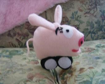 Ready To Ship Pink Pig Racecar Kids Stuffed Plush Toy Doll