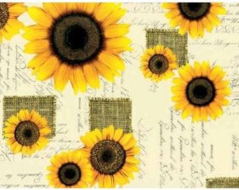 Oilcloth tablecloth sunflowers C144401 metre