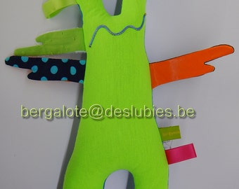 Neon Monster little blankie