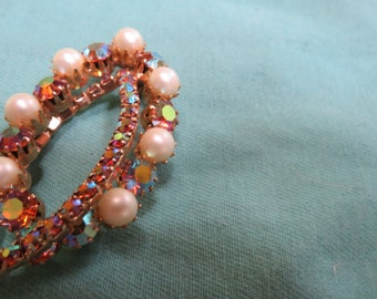 Gem/Pearl Brooche
