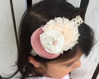 Shabby chic handmade headband