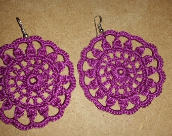 loop Orelle crochet flower pattern