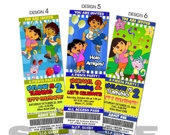 Dora birthday invitation party invites the explorer printable custom photo template baby shower 1st first card print digital file
