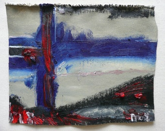 One, an abstract oil sketch on canvas