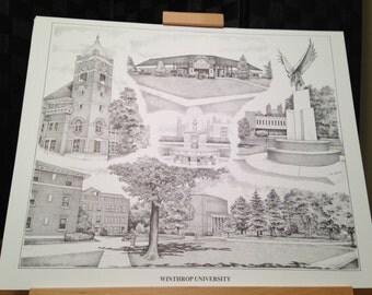 Winthrop University 16x20 collage print