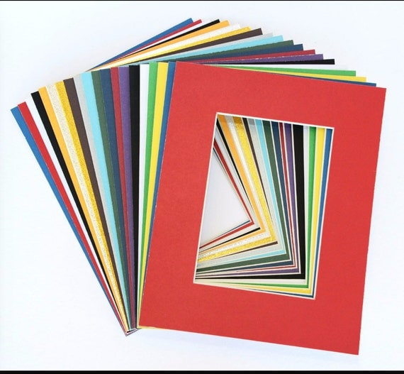 Lot Of 5 16 X 20 Acid Free Pre Cut Mats Assorted Colors