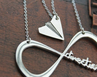 one direction and paper plane necklace harry styles Christmas jewelry N52A N104A