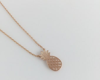 Pineapple Rose Gold Necklace/Fashion Necklace/Polish Juicy Pineapple