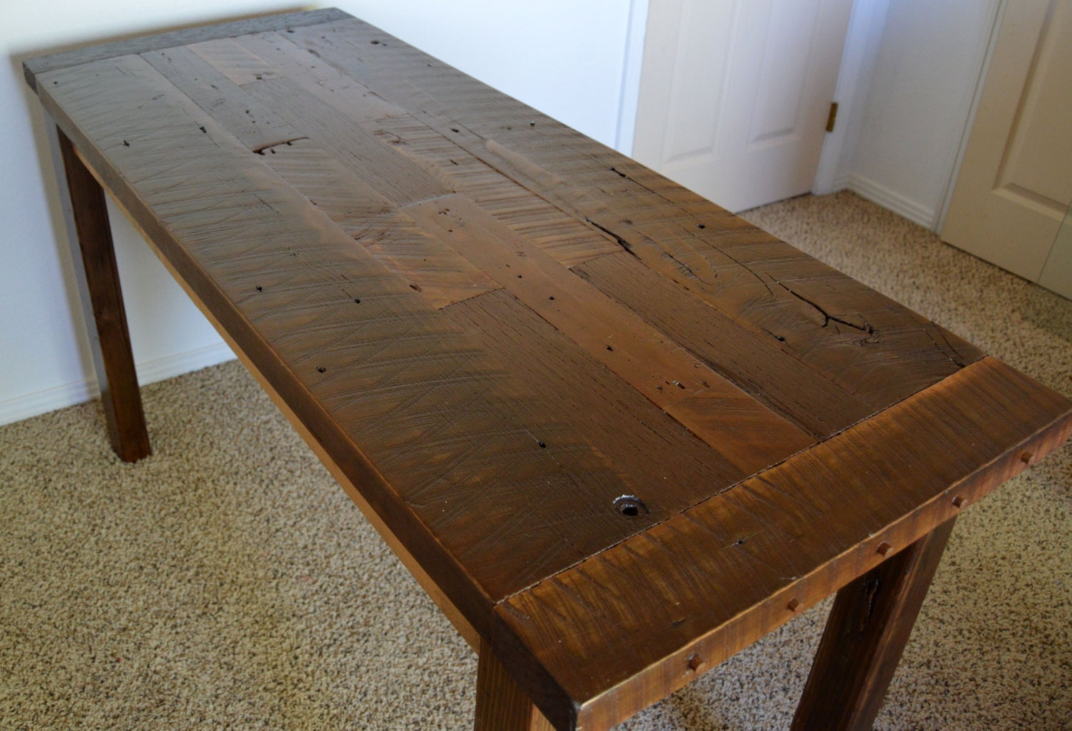 Country Home Decor Rustic Desk Reclaimed Wood