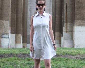Pink sleeveless linen-cotton dress/summer dress/pre washed-pre shrunk/women's dress
