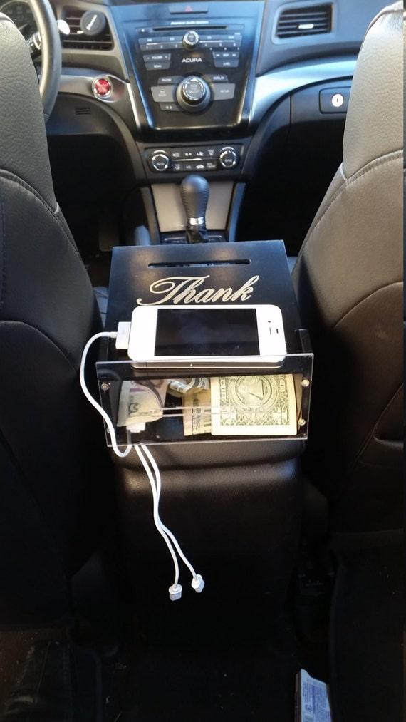 Uber charging station TIP BOX by SammKwoodworks on Etsy