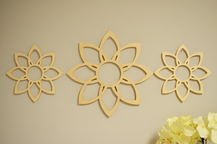 Wood Flower Wall Decor : Sale flower wood wall art star home decor