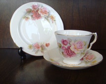 Queen Anne Bone China tea cup, saucer and side plate