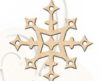 Christmas, Unpainted, Wood, shape, snowflake