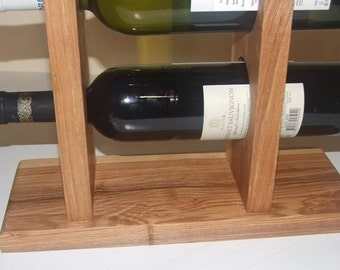 Standing Wine Shelf, Wooden Wine Holder, Standing Wine Rack