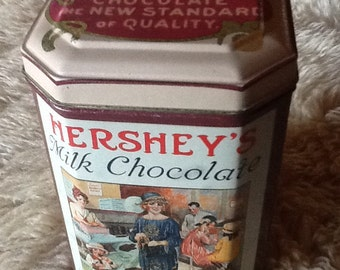 Hershey's Milk Chocolate Tin Vintage 1993