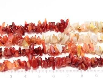 carnelian chips long string/G-0023